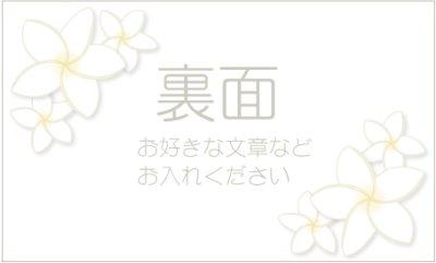 画像1: 名刺デザイン☆プリンセス♡プルメリア☆